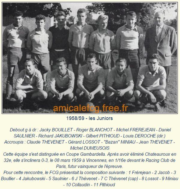 Saison 1958 1959 championnat de france amateur groupe - Palmares coupe gambardella ...