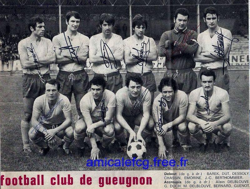 """1970-71    Match """"National"""" à BEZIERS"""