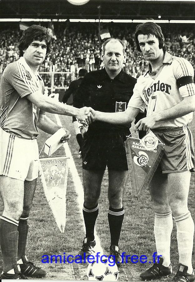 1978-79    1/4 de finale retour de Coupe de France à STRASBOURG