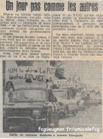 1969  Coupe de France - 1/4 finale aller contre Angers