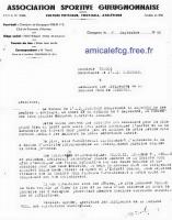 1940 - La convocation pour une réunion avant la Fusion ...